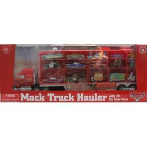 Cars Mack Truck Hauler Carrying Case + 15 Die Cast Character Cars