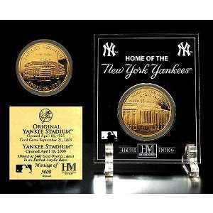 Highland Mint New York Yankees   Yankee Stadium Then and Now 24KT
