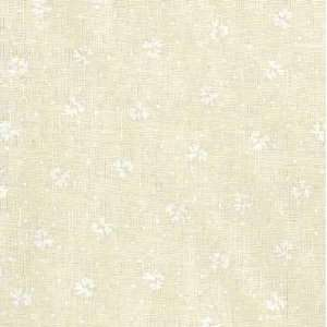 White on Natural Tiny Posey Fabric By The Yard Arts, Crafts & Sewing