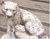 RARE FRANKLIN MINT SNOW LEOPARD SCULPTURE