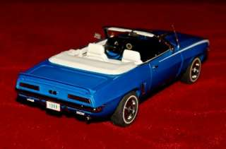 MINT DIE CAST EXACT REPLICA 124 CHEVROLET CAMARO 1969 BLUE