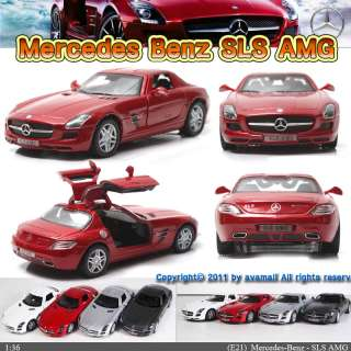Mercedes Benz SLS AMG 136 5 Color selection Diecast Mini Cars