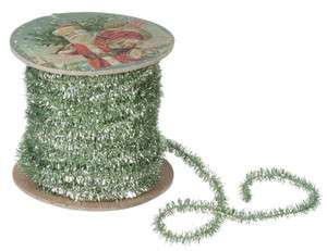 Yards 180 Inches Sage Green Roll Tinsel Christmas Tree Garland