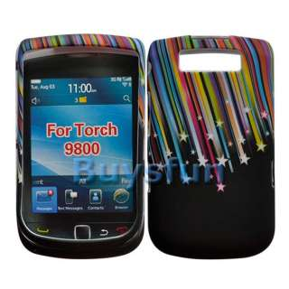 10x Shooting Star Hard Case For Blackberry Torch 9800