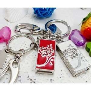 Flower Style USB Flash Drive with Keychain