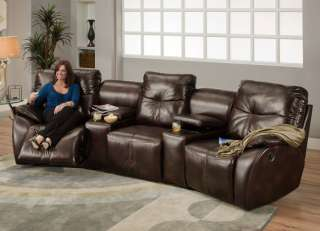American Made Home Theater Seating 3 Recliner Chairs