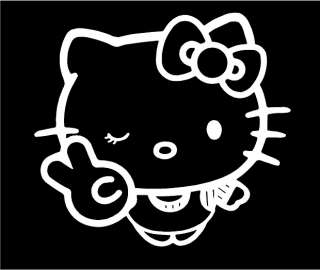 Hello Kitty Peace Sign Decal Car Truck Vinyl Window Sticker Wall