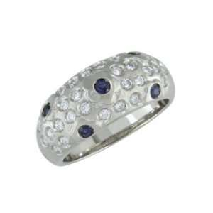 Carlacie   size 9.25 14K Gold Sapphire & Diamond Ring Jewelry
