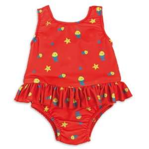 Bambino Swimsuit Nappies Red Fish Extra Large 12 15 Kgs. Baby