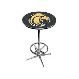 Southern Mississippi Pub Table   Black   Chrome Base with