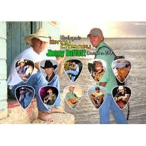 Kenny Chesney & Jimmy Buffett Guitar Pick Display Limited