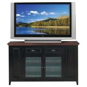 Black and Cherry Wood 62 Wide Television Console