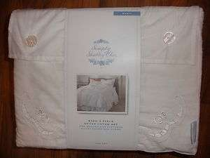NEW Simply Shabby Chic Duvet Cover Set 3 piece King White