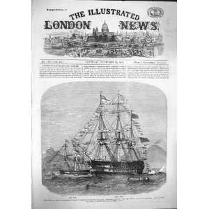 1862 WAR SHIP H.M.S. DORIS LONDON BAY NAPLES PRINCE