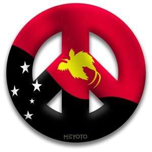 Peace Symbol Removeable Vinyl Sticker of Papua New Guinea