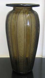 Daum Nancy French 1925 Art Deco Etched Glass Vase RARE
