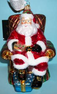 Kurt Adler Polonaise Christmas Ornament   Santa Claus in Armchair