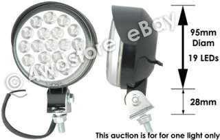 ROUND QUALITY 12v WHITE 19 LED REVERSE WORK LIGHT, LAMP