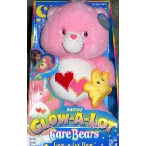 Care Bears Glow A Lot Plush 13 Love A Lot Bear with Star