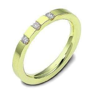 18 Karat Yellow Gold Stackable Diamond Band Ring   6.25
