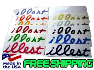 ILLEST JDM Decals Stickers 7 2 PACK You Pick Color Euro