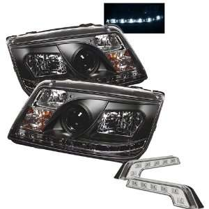 Carpart4u Volkswagen Jetta DRL LED Black Projector Headlights and LED