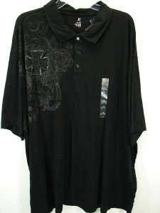 NWT Black J.Ferrar Graphic Polo Shirt Mens Big & Tall 3XL XXXL NEW $40