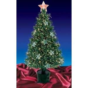 4 Pre Lit Fiber Optic Artificial Christmas Tree with