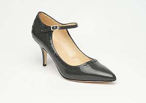 NEW Kate Spade 'Tucker' gray patent leather pumps $310