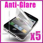 10pcs ANTI FINGERPRINT SCREEN PROTECTOR FOR iPHONE 4 4S WHITE BLACK