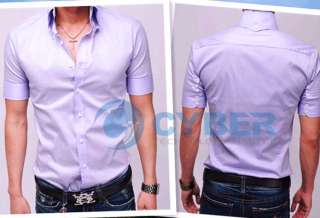 Mens Casual Slim fit Stylish Short Sleeve Shirts Luxury