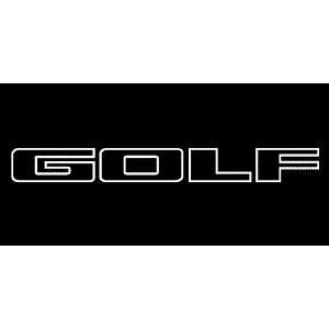 VW Golf Outline No Logo Windshield Vinyl Banner Decal 36