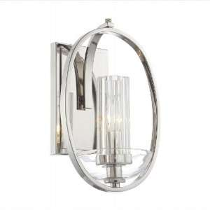 Urban Nouveau Polished Nickel Wall Sconce