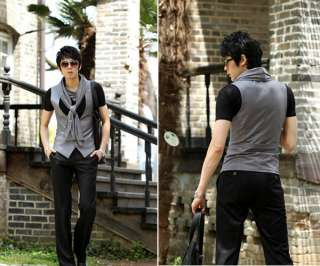 Mens Slim Fit Vest Jacket Waistcoat 2 Color 3 Size Z76