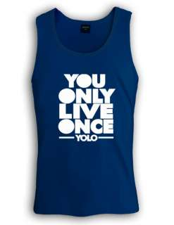 Yolo Singlet you only live once take care ovo lil wayne tank top white