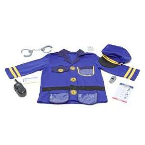 Doug 4835 Police Officer Dress up Costume + Free Gift Toys & Games