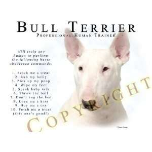 Bull Terrier WHITE Human Trainer Mouse Pad Dog Mousepad