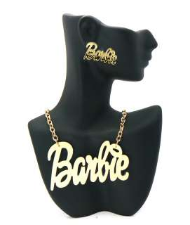 Nicki Minaj Inspired Gold Tone Mirror Polished Barbie Charm Earring