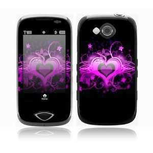 Glowing Love Heart Design Protective Skin Decal Sticker for Samsung
