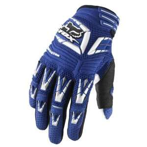 2010 Fox Racing Pawtector Gloves   Blue   12 (XX Large