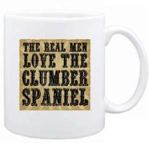 New  The Real Men Love The Clumber Spaniel  Mug Dog