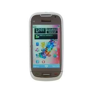 Touch Screen Quad band Dual SIM Cell Phone(White) Cell Phones
