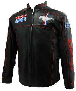 New FORD MUSTANG 100% Genuine Leather Jackets 3 Colors Available FREE