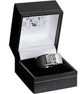 Manchester United FC Official Product Stainless Steel Band Ring Gift