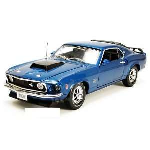 Mustang Boss 429 Hard Top (1969, 124, Acapulco Blue) Toys & Games