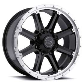 20x9 Black Rhino Moab (Gloss Black w/ Machined Lip) Wheels