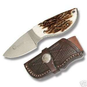 Ultimate Caping Knife Stag handle leather Sheath