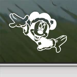 Disney White Sticker Mickey Minnie Mouse Laptop Vinyl