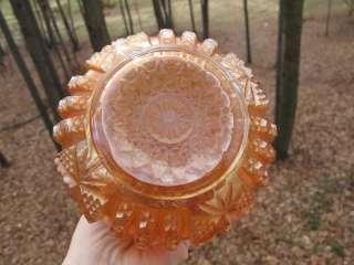 Antique IMPERIAL MARIGOLD Carnival Glass WINE SET OCTAGON DECANTER
