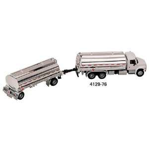 International 4300 Tanker Truck w/ Trailer 187 White